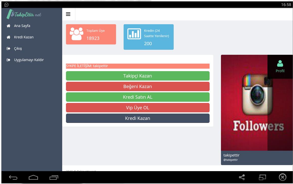 TakipEttir Takipçi ve Beğeni 1.0 APK Download - Android Social Apps