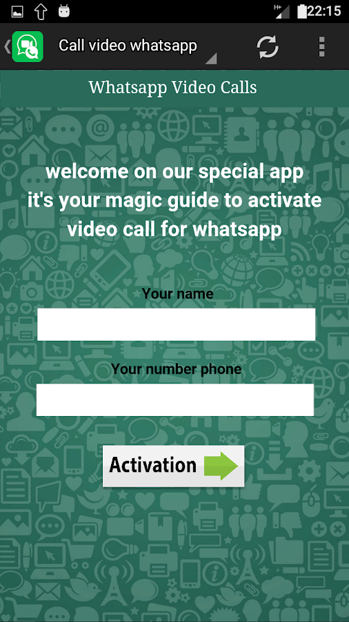 how to get whatsapp video call details