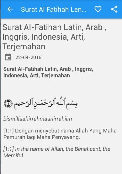 Surat Al Fatihah Arab Latin 240 Apk Download Android