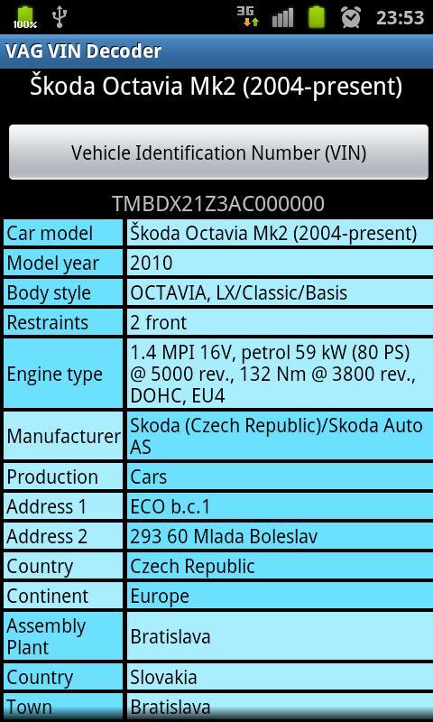 Vin Decoder Audi Idee D Image De Voiture