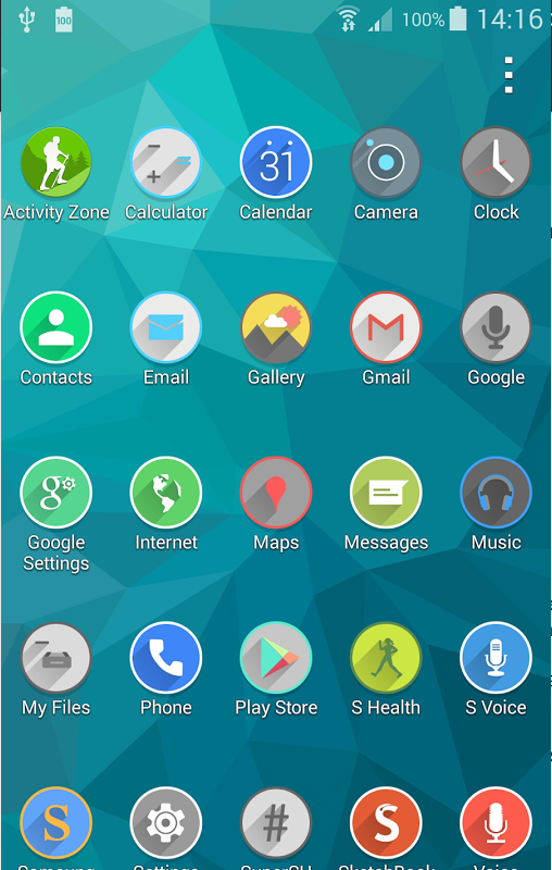how to make icon smaller in samsung galaxy s5