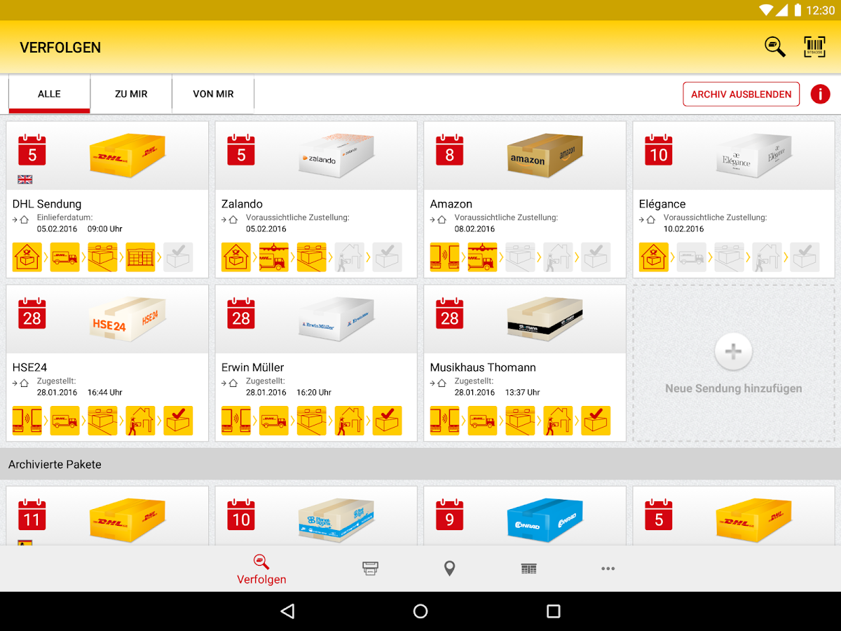 dhl paket apk download android productivity apps. Black Bedroom Furniture Sets. Home Design Ideas