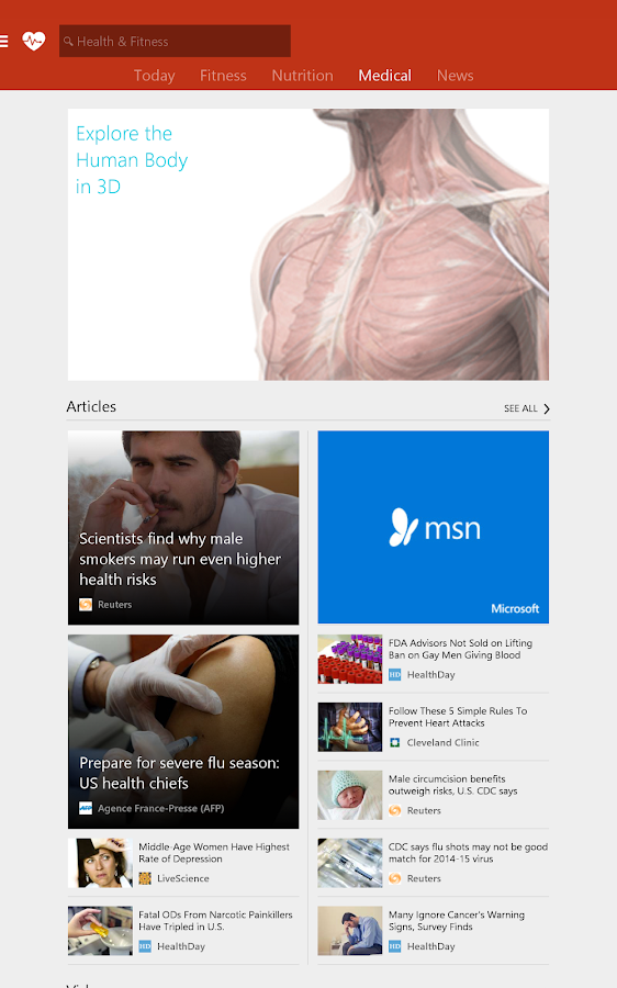 Msn Health Fitness Workouts 1 2 0 Screenshot 9