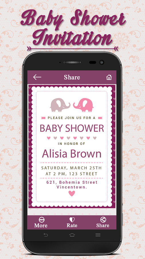 Baby Shower Invitation Card Maker 2 0 Apk Download Android
