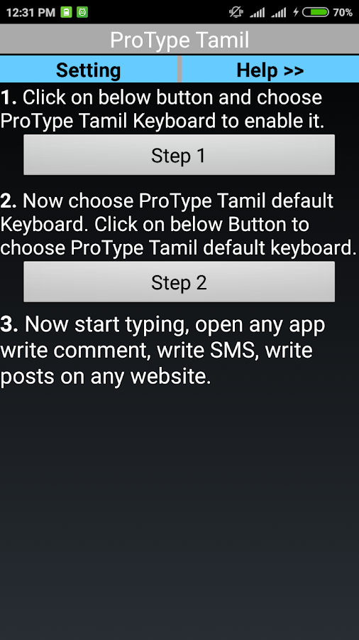 Protype Tamil Keyboard 2 3 APK Download - Android