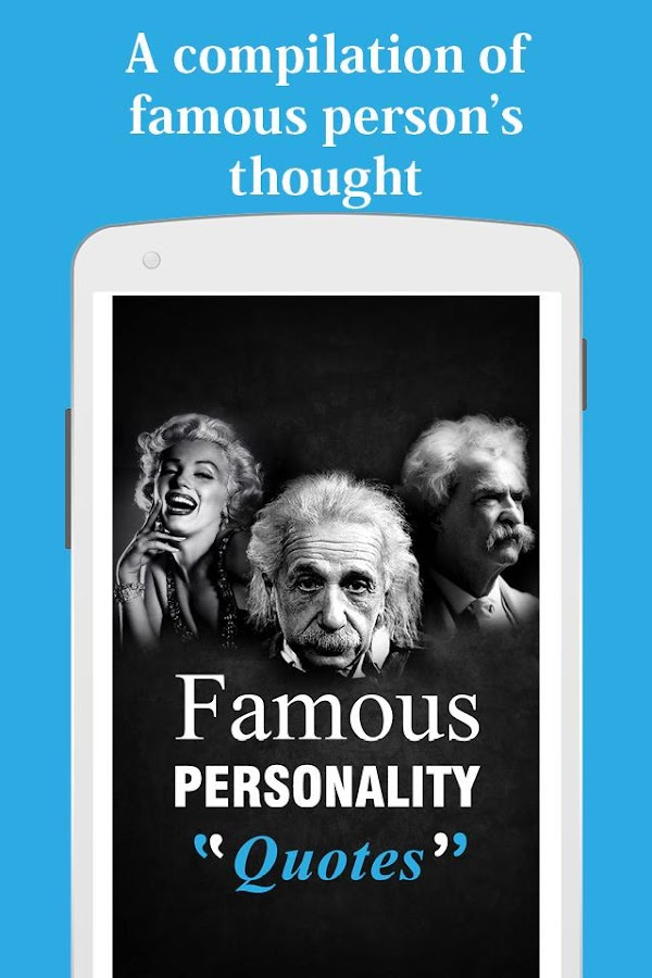 Famous personality Quotes 1 0 APK Download - Android Books