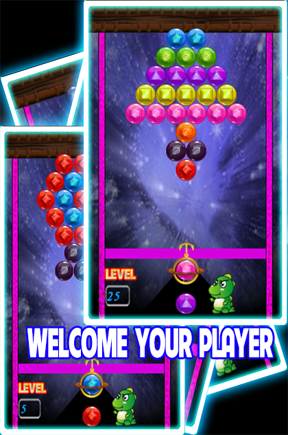 bubble shooter deluxe key and name