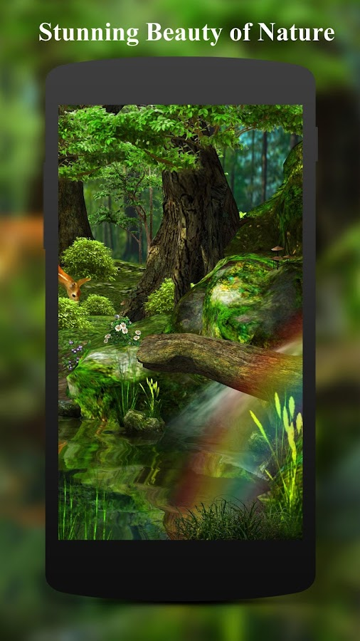 3D Deer Nature Live Wallpaper 136 Screenshot 2