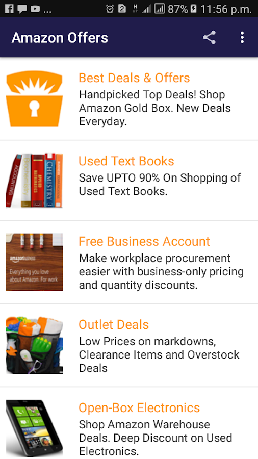 22760b39 cloud_download Download APK File · Amazon Offers Best Deals & Discounts  Every day 1.0 screenshot 1 ...
