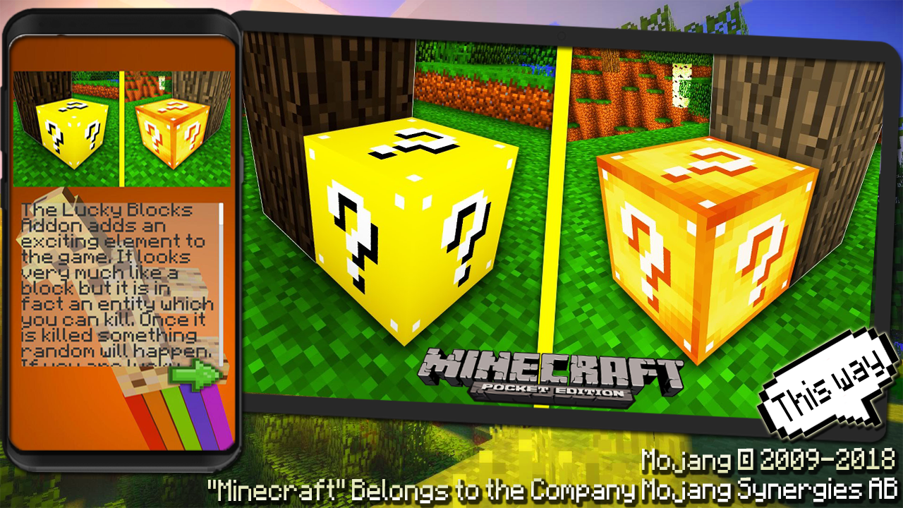 Addon Lucky Block Gold for MCPE 1 1 APK Download - Android