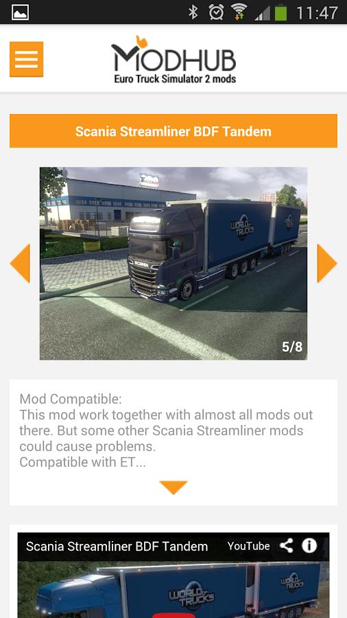 euro truck simulator 2 mods 1 5 apk download android. Black Bedroom Furniture Sets. Home Design Ideas