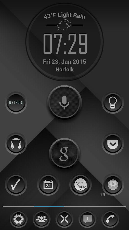 K Sr Black Icon Pack  Screenshot
