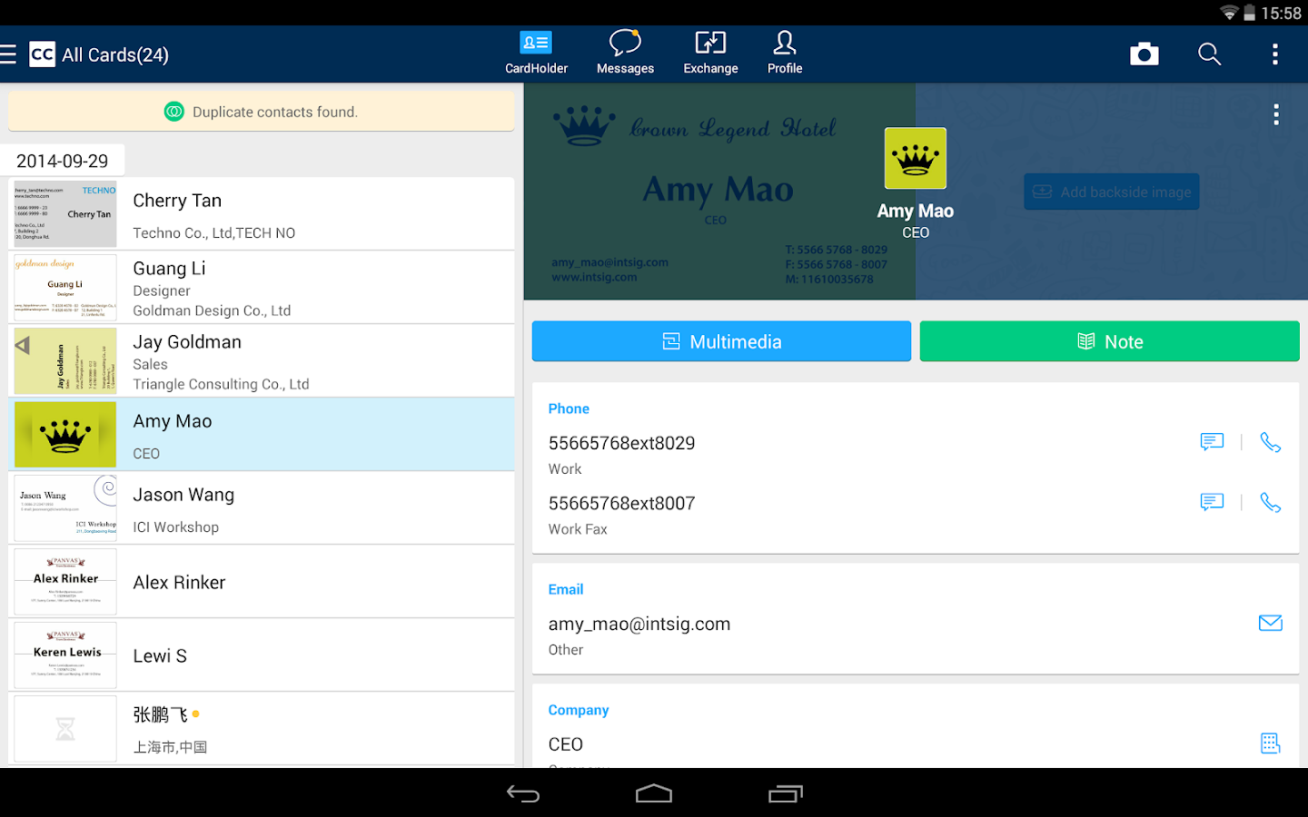 Camcard Free Business Card R Apk Download Android