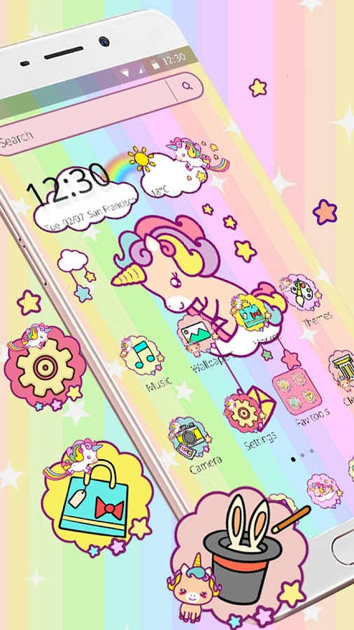 Cute baby Unicorn Theme 1 1 2 APK Download - Android Personalization