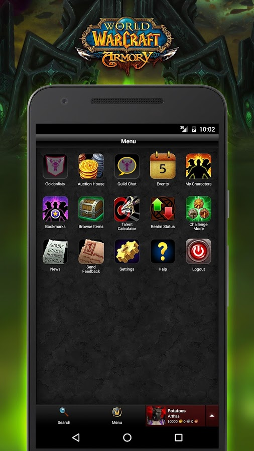 world of warcraft armory 7 0 1 apk download android