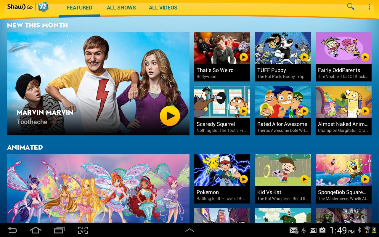 Shaw Go YTV 1.7.2 APK Download - Android Entertainment Games
