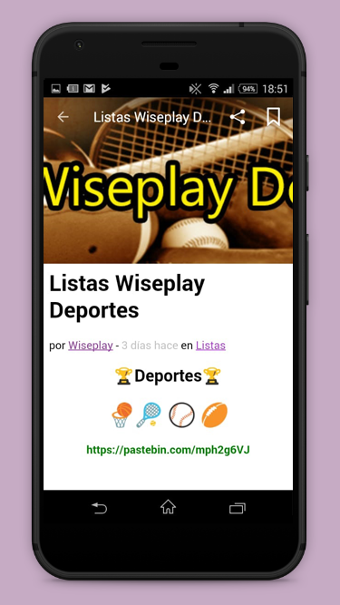 Listas Wiseplay 📺 2019 16 03 APK Download - Android Entertainment Apps