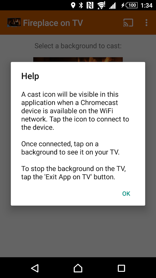 Fireplaces on TV - Chromecast 1.1 APK Download - Android Lifestyle ...