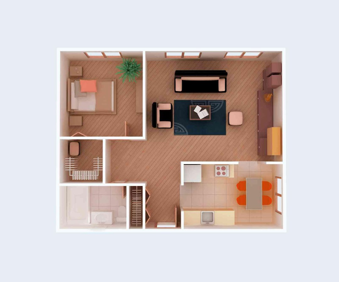 3d small home plan ideas 1 0 apk download android for Small house design layout