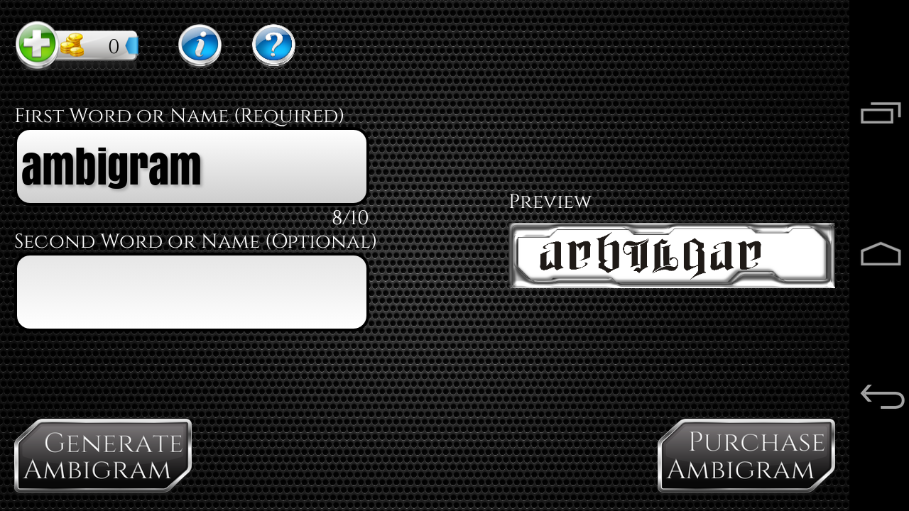 Ambigram Generator 2.1 APK Download - Android ...  Ambigram Free Creator