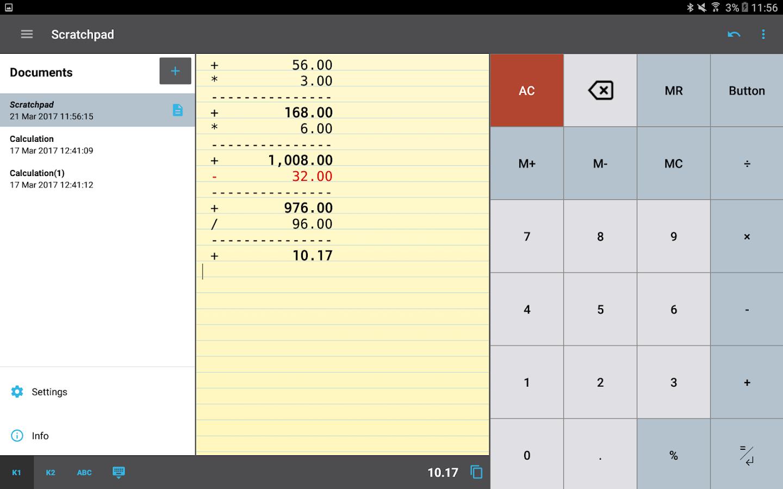 Roman Numerals Calculator -  calctape calculator with tape screenshot 11