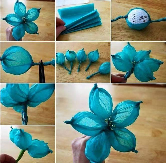33Как сделать украшение цветы из гофрированной бумаги