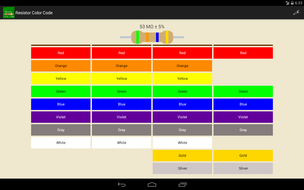 how to use resistor colour code