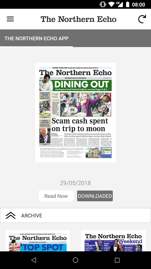 Northern Echo 1 5 APK Download - Android News & Magazines التطبيقات