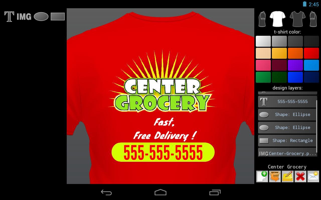 Shirt design app for android -  T Shirt Designer 1 2 2 Screenshot 3