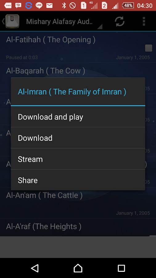 Quran Audio by Mishary Alafasy 1 0 APK Download - Android
