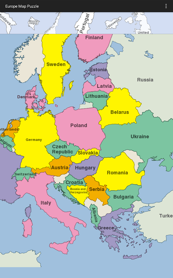 Europe Map Puzzle APK Download Android Puzzle Games - Map of europe for children