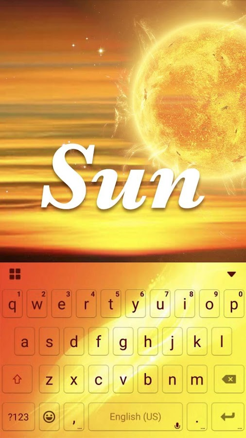 Sun Emoji Kika Keyboard Theme 1 0 APK Download - Android
