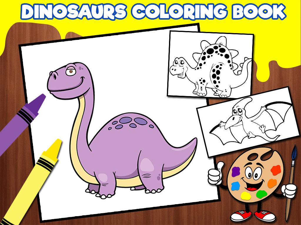 Kids Dinosaurs Coloring Books 10 Screenshot 6