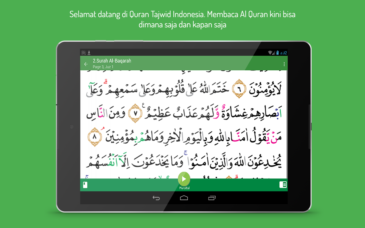 Quran for android applications android sur google play -  Quran Tajwid Indonesia 3 0 2 Screenshot 9