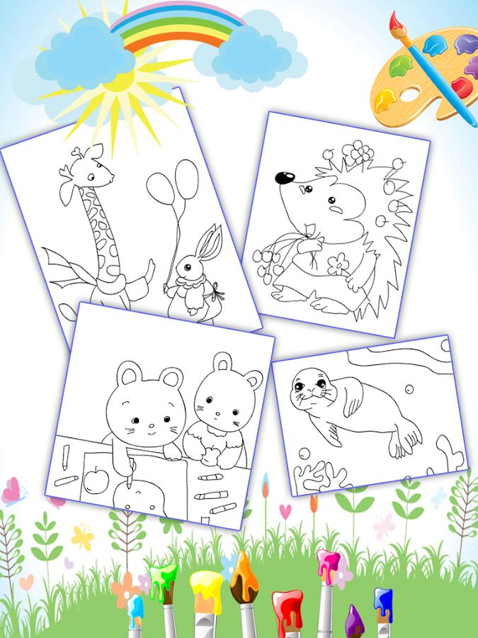 coloring book for kids animal 108 screenshot 7