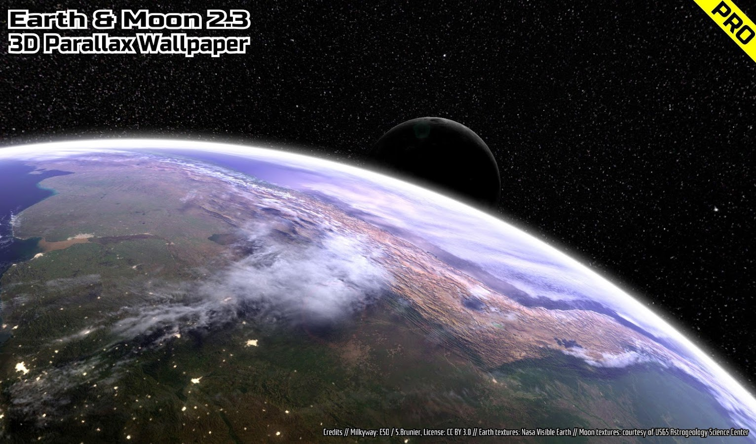 Animals Wallpaper 3d Hd 2 0 Apk Download: Earth & Moon In HD Gyro 3D PRO Parallax Wallpaper 2.4 APK