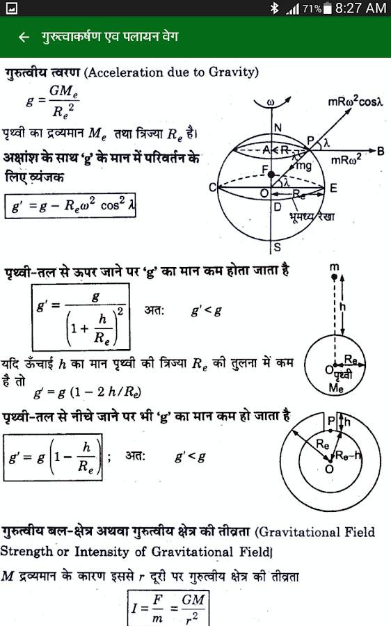 physics formulas for class 11 and 12 pdf