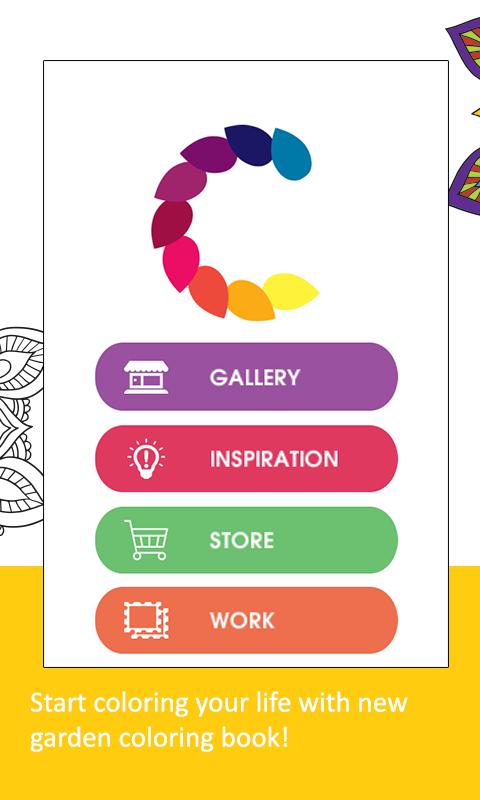 Adult Coloring BookGarden Screenshot 1