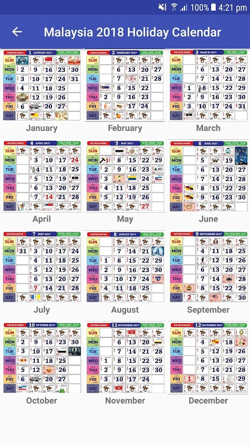 Malaysia 2018 Holiday Calendar 1.22 APK Download - Android Tools Apps