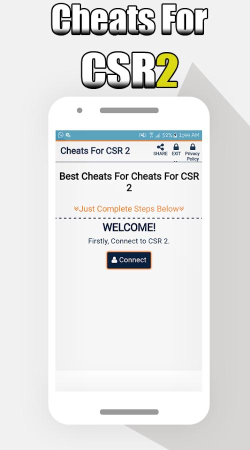 Hack For CSR 2 -Prank 1 1 0 APK Download - Android Tools التطبيقات