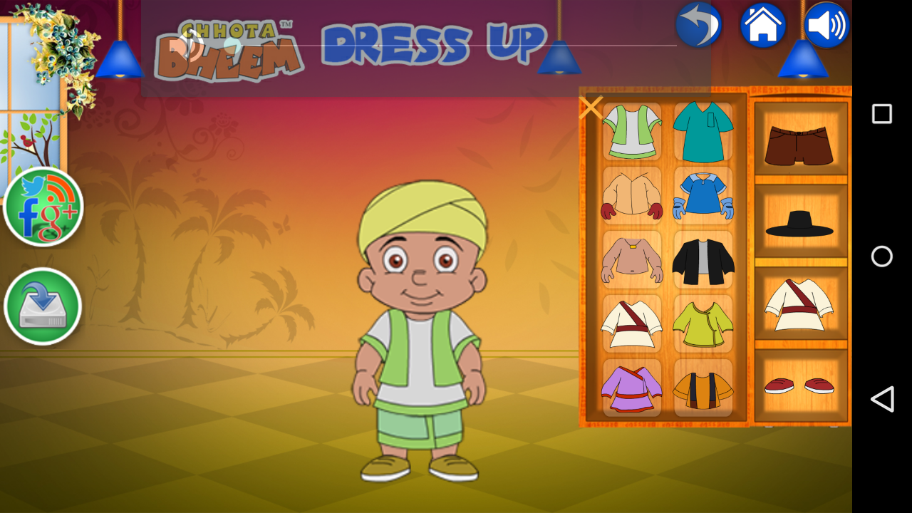 Chhota Bheem DressUp 1.0.6 APK Download - Android Entertainment Apps