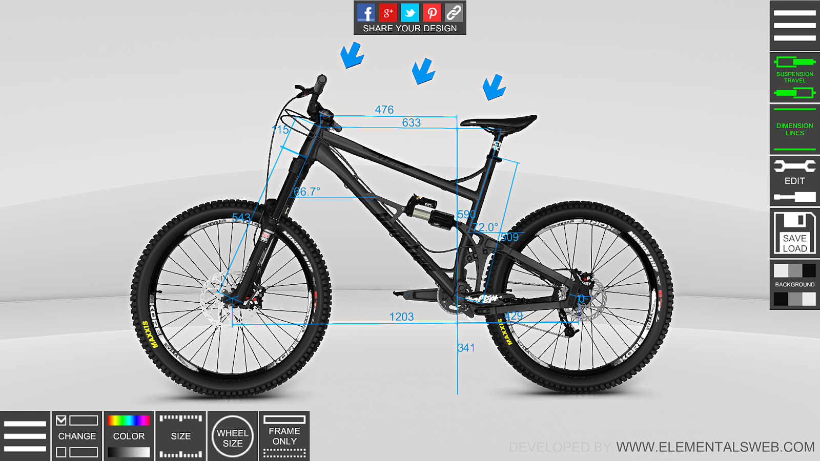 bike 3d configurator 1 5 1 apk download android sports games bike 3d configurator 1 5 1 screenshot 3