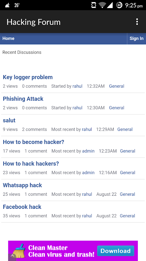 Hacking Forum 1 0 APK Download - Android Communication Apps