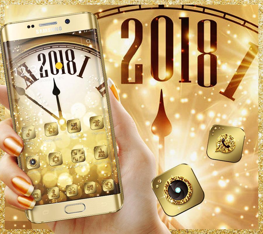 دانلود Golden Luxury Roman Clock 2018 Theme 1 1 2 APK - برنامه های
