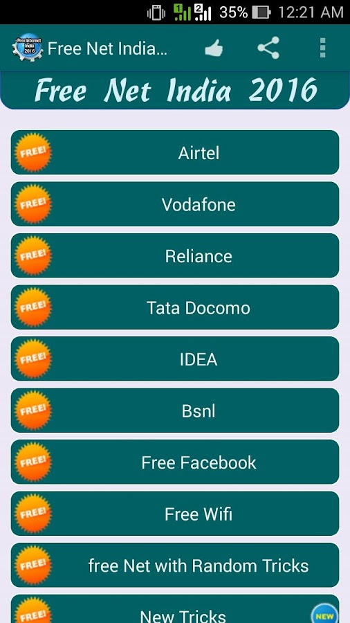 Free Internet India 2016 1 2 APK Download - Android