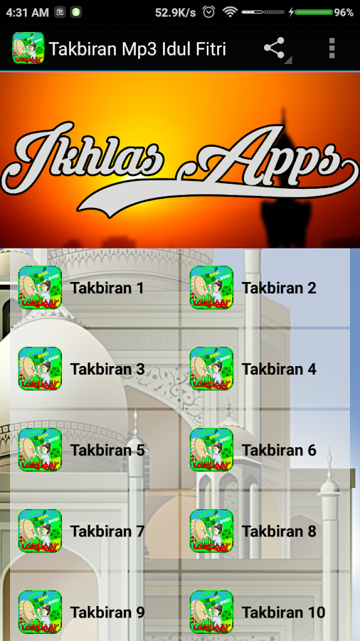Takbir Mp3 New Offline 1 0 Apk Download Android Music Audio Apps