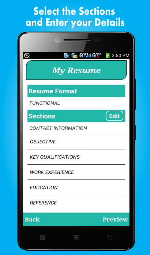 smart resume builder cv free 396 screenshot 2 - Resume Buildercom