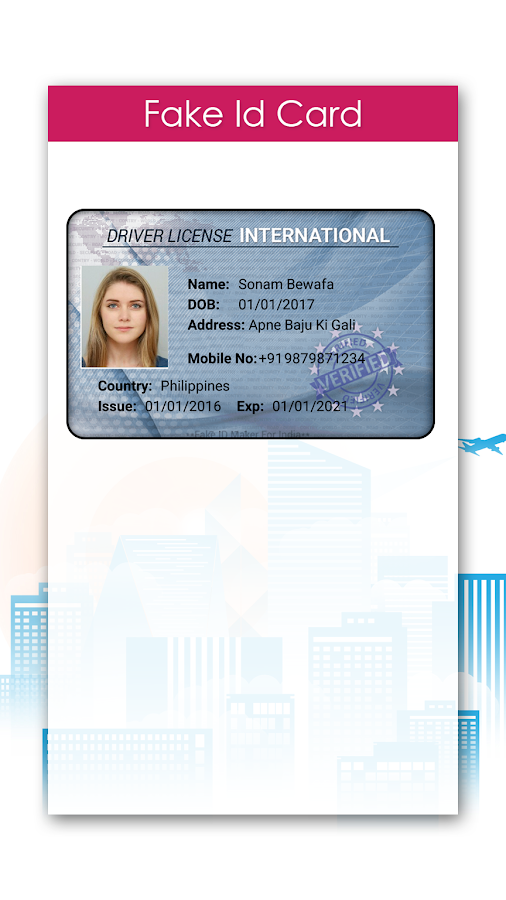 Fake ID Card Maker 1 0 APK Download - Android Lifestyle Apps