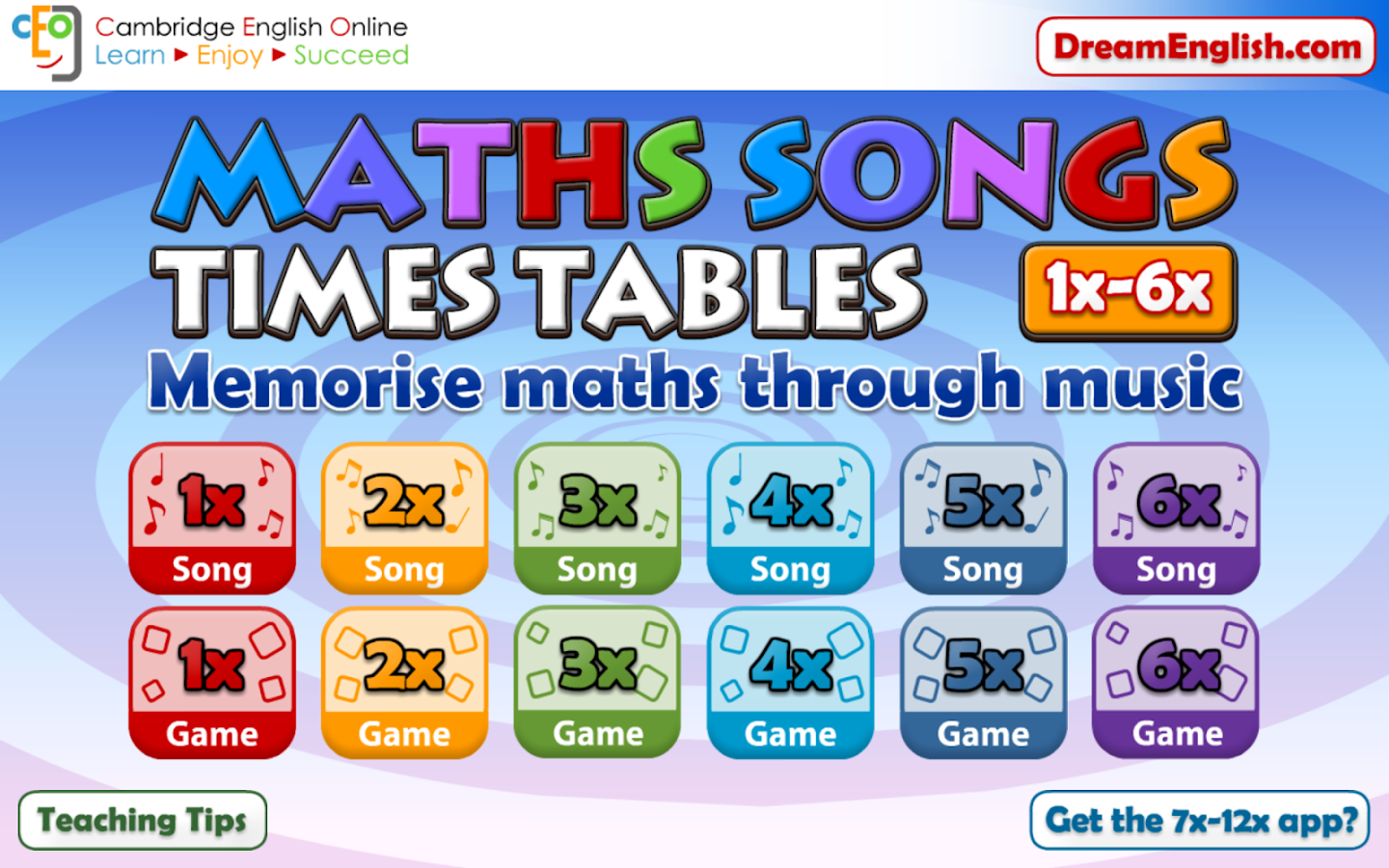 App to learn multiplication tables images periodic table images maths songs times tables 1 6x 11 apk download android education maths songs times tables 1 gamestrikefo Images