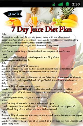 7 Day Juice Diet Plan 14 Screenshot 2